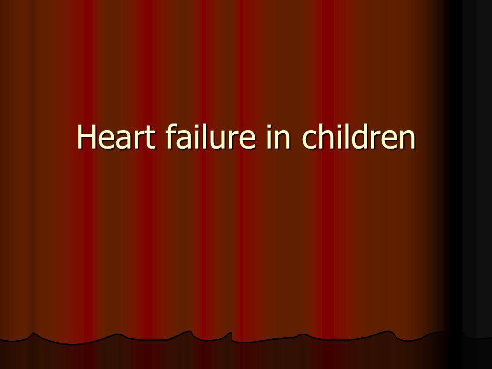 Heart failure in children