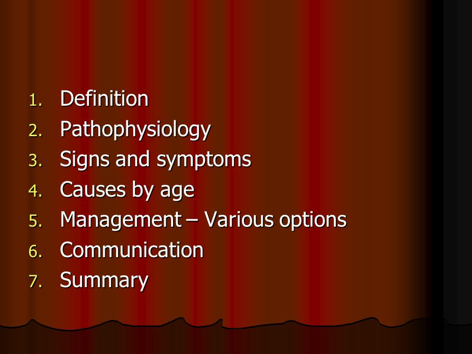 Summary Definition of heart failure Definition of heart failure Presentation of CHF.