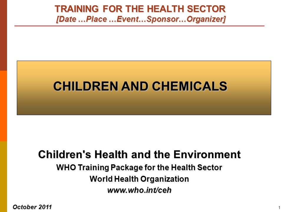 Children and chemicals PESTICIDES: CHRONIC EXPOSURE 32   Child-care centres   Schools   Children spend hours   Close to the ground   Touching and tasting   Pesticides applied remain in carpets and fabrics.