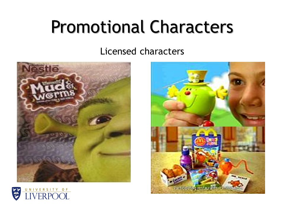 Promotional Characters Licensed characters