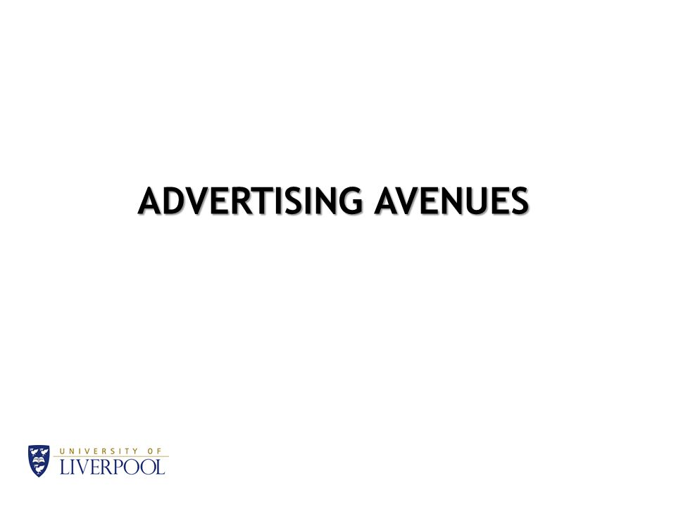 ADVERTISING AVENUES