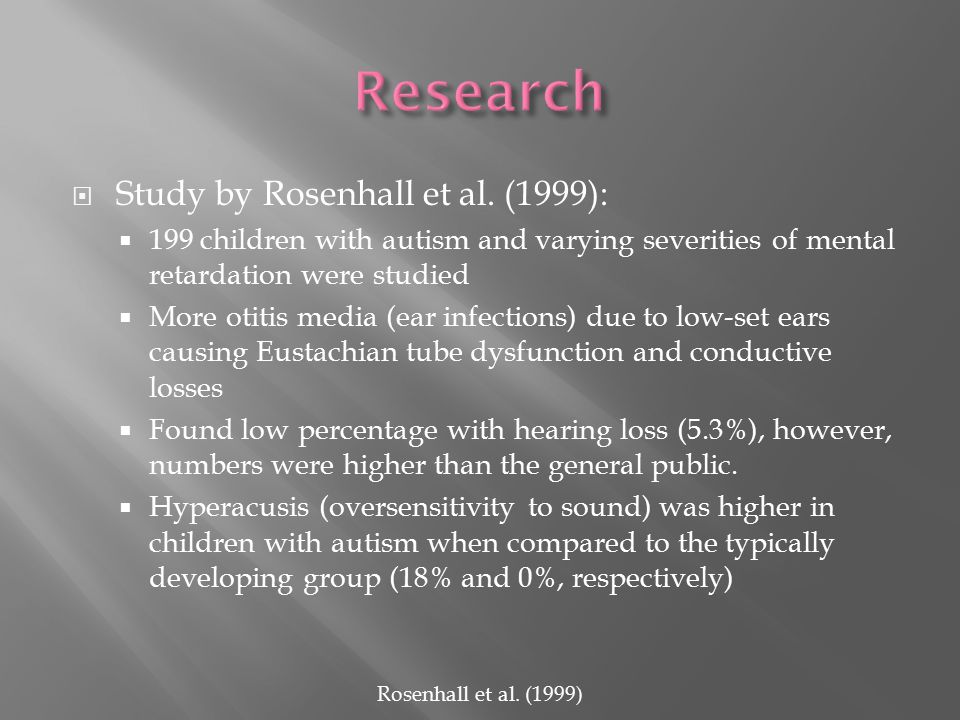  Study by Rosenhall et al.