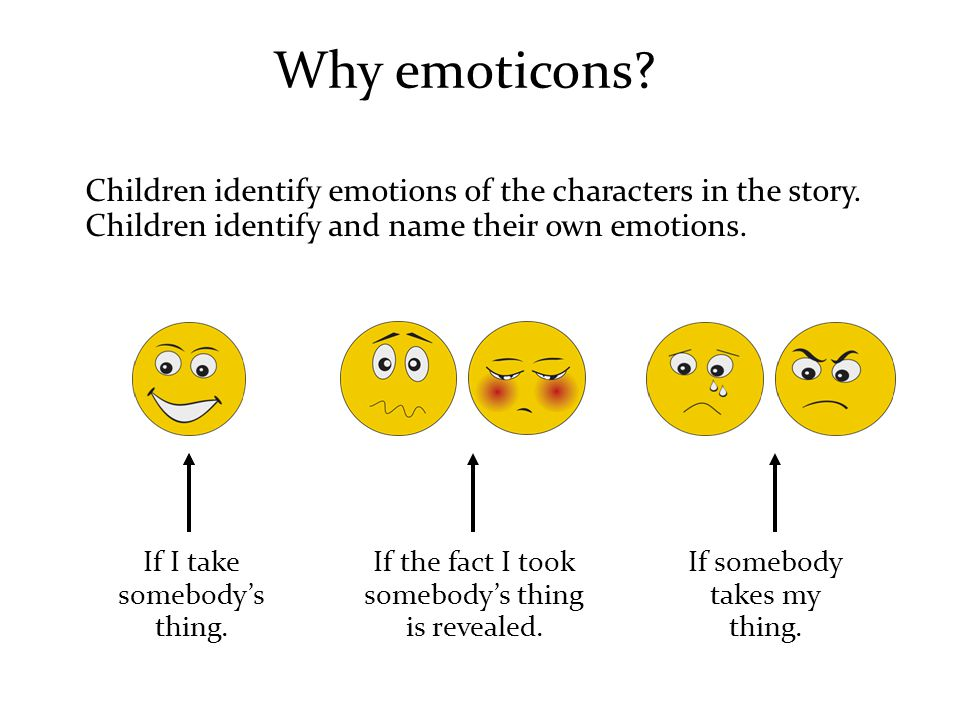 Children identify emotions of the characters in the story.