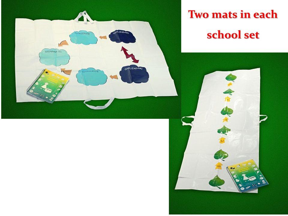 Two mats in each school set