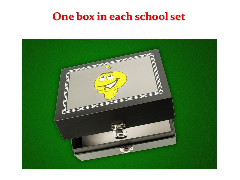 One box in each school set