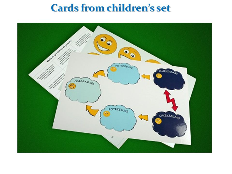 Cards from children's set