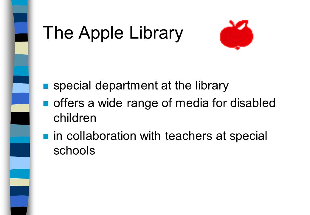 Library service for children with disabilities