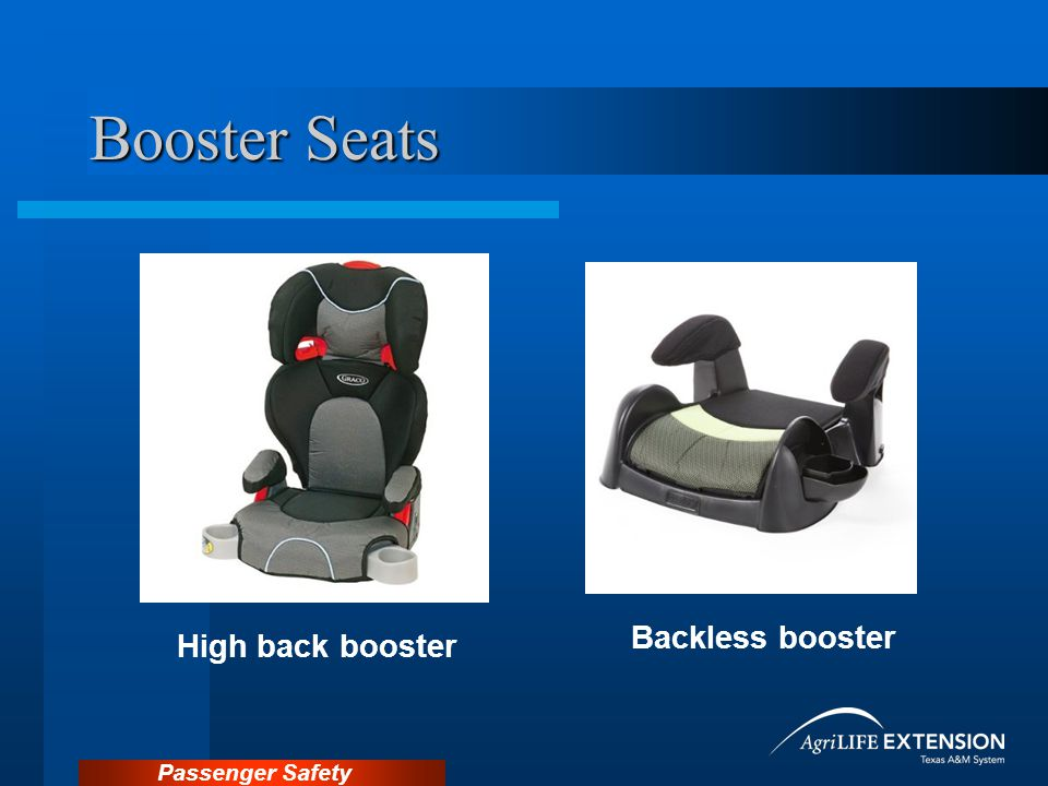 Passenger Safety Booster Seats High back booster Backless booster
