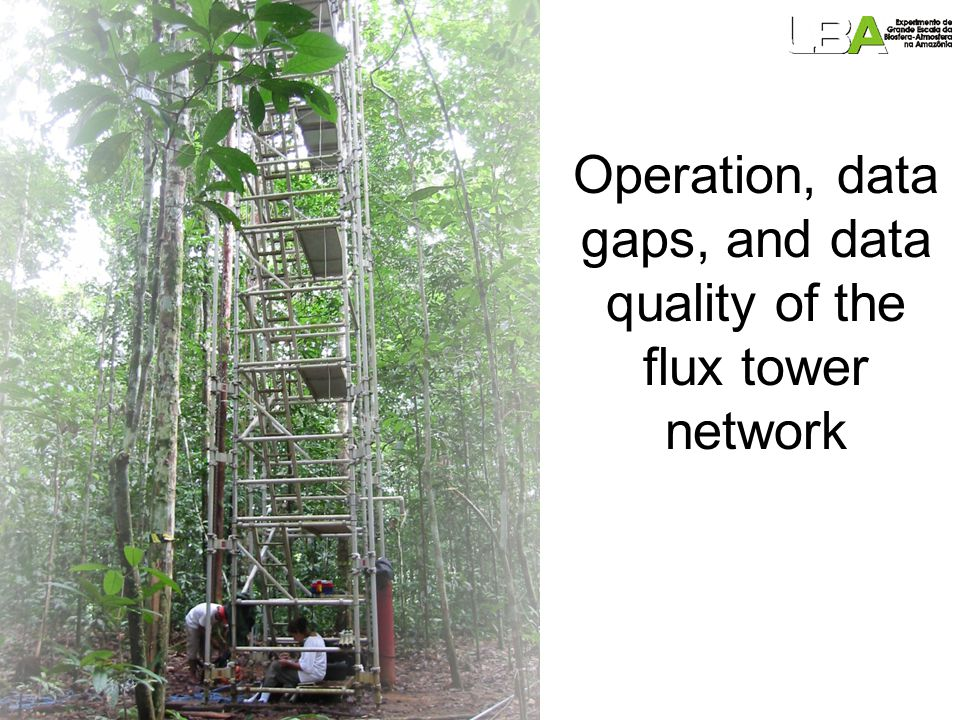 Operation, data gaps, and data quality of the flux tower network
