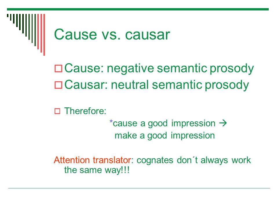 Cause vs.
