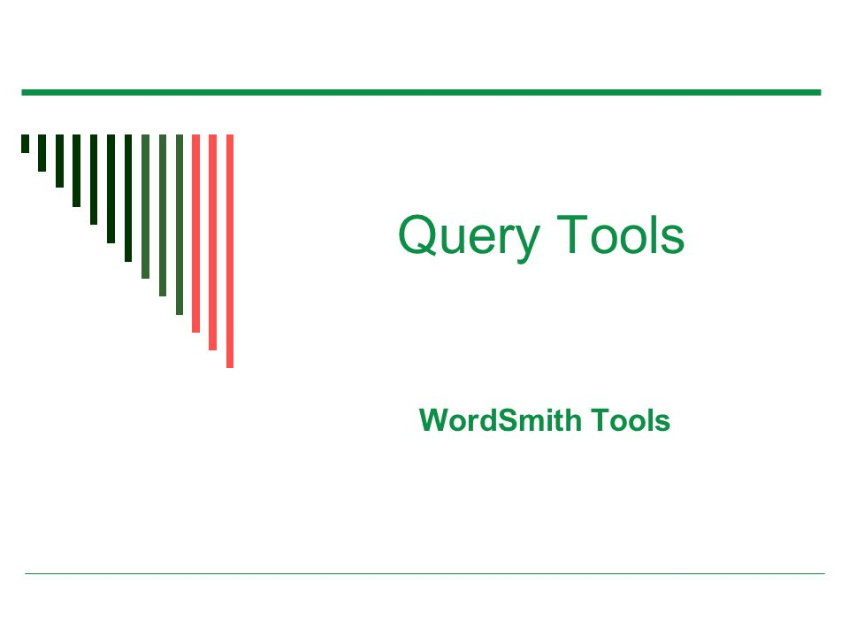 Query Tools WordSmith Tools