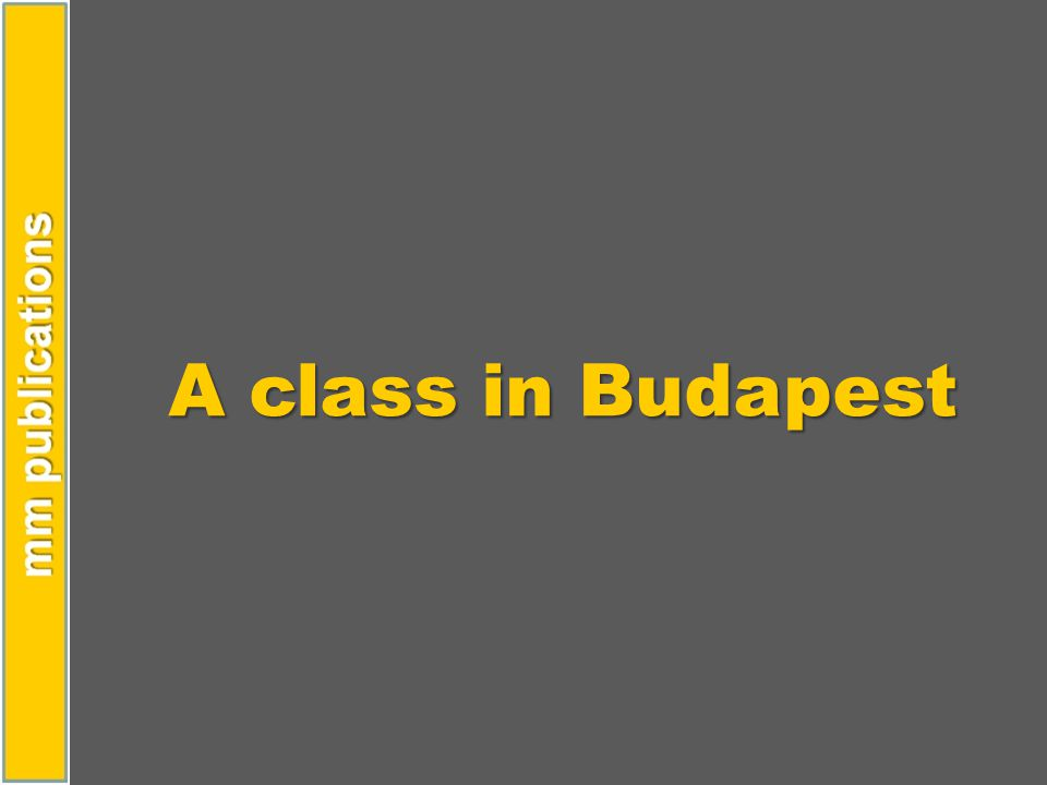 A class in Budapest