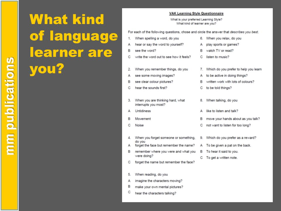 What kind of language learner are you?