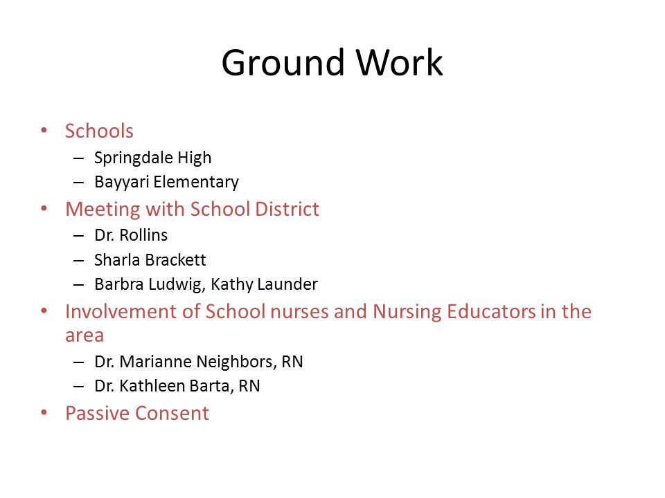 Ground Work Schools – Springdale High – Bayyari Elementary Meeting with School District – Dr.