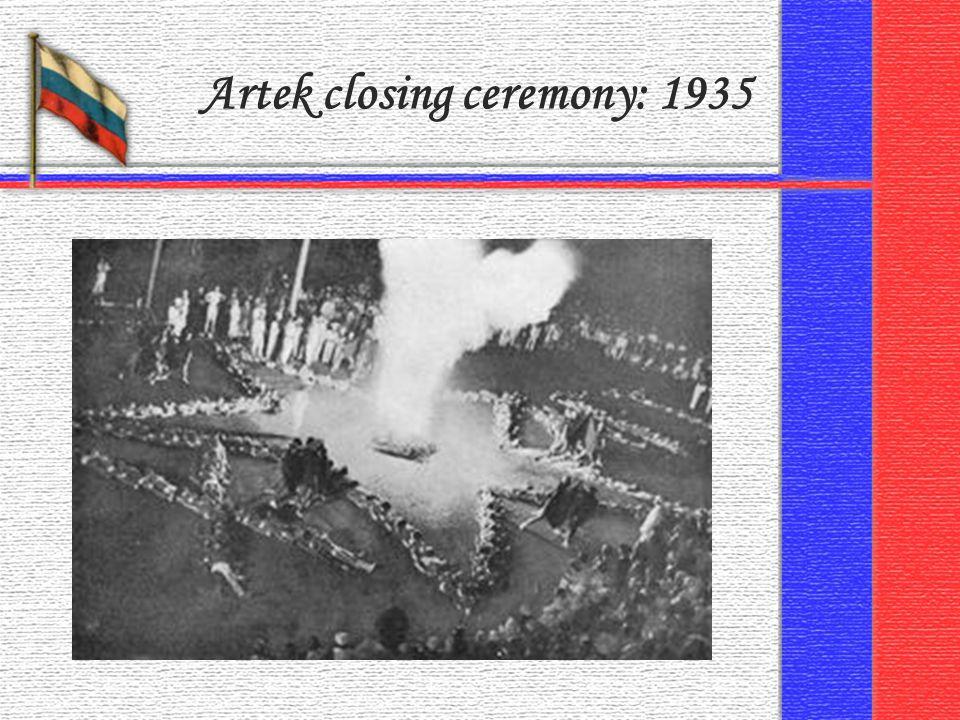 Artek closing ceremony: 1935