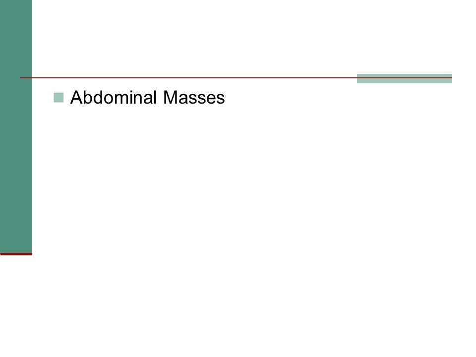 Abdominal Masses