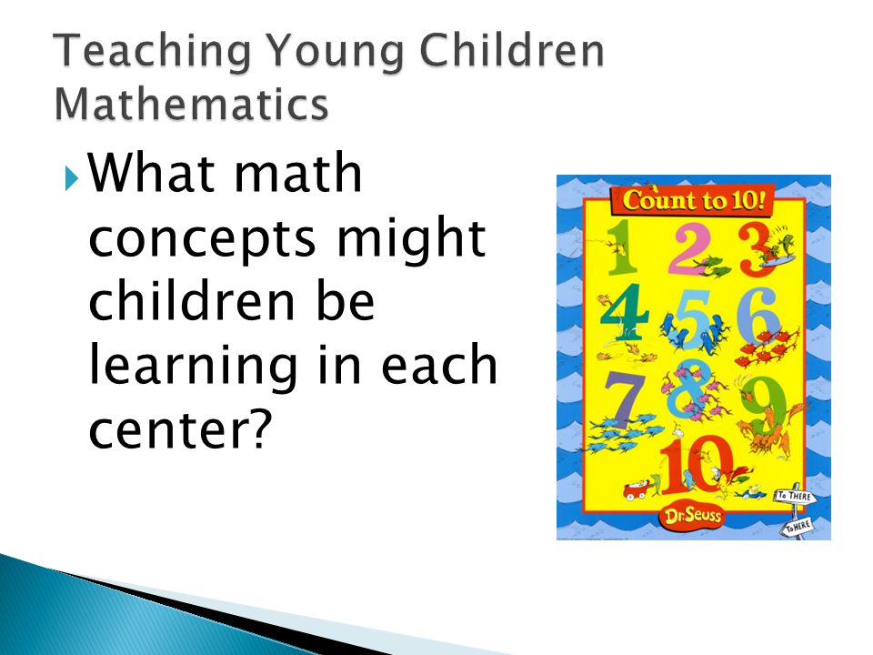 Emphasize a vision of mathematics for young children that:  builds upon young children's experiences with mathematics,  establishes a solid foundation for the further study of mathematics,  incorporates assessment as an integral part of learning events,  develops a strong conceptual framework that provides anchoring for skill acquisition,