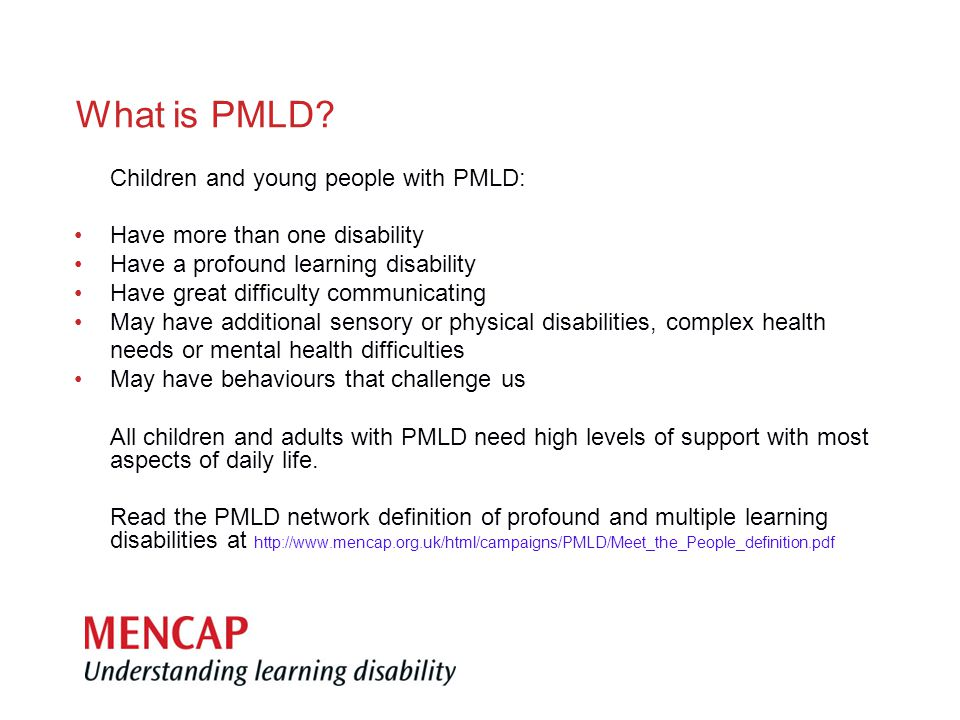 What is PMLD.