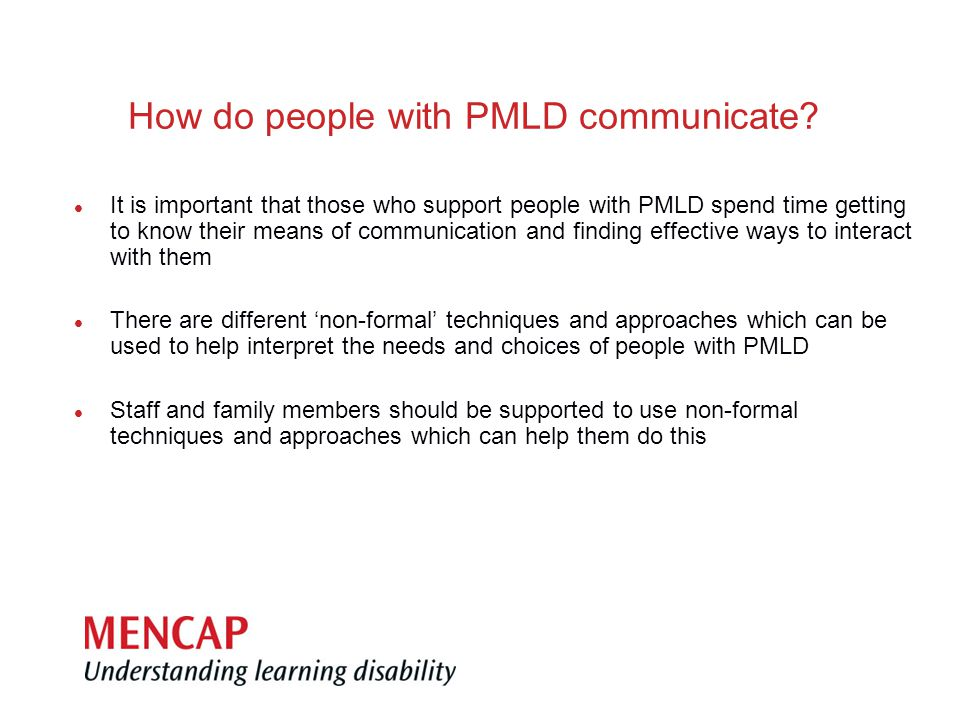 How do people with PMLD communicate.