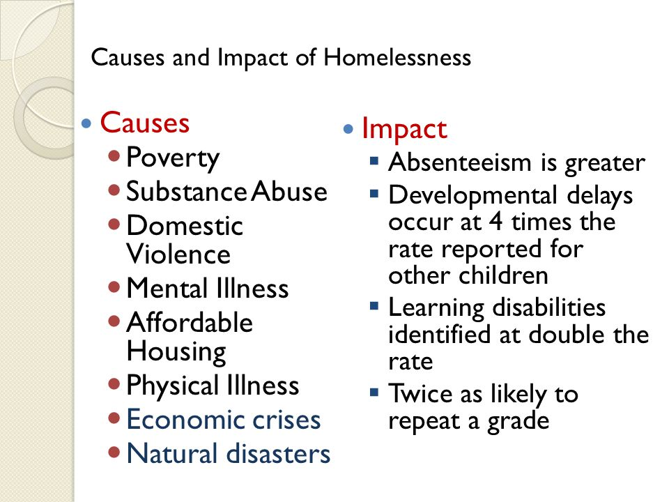 McKinney-Vento Homeless Assistance Act Education for Homeless Children and Youth (EHCY) Program Title X, Part C 2001 Reauthorization of the Elementary and Secondary Education Act
