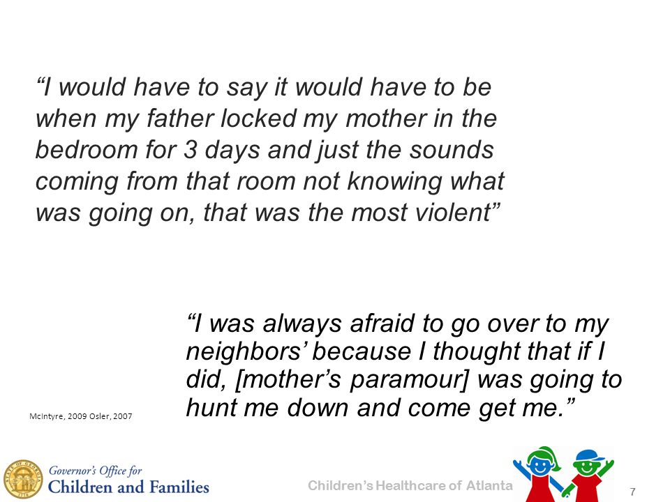 Children's Healthcare of Atlanta How Does Child Welfare System Add to Traumatic Stress.
