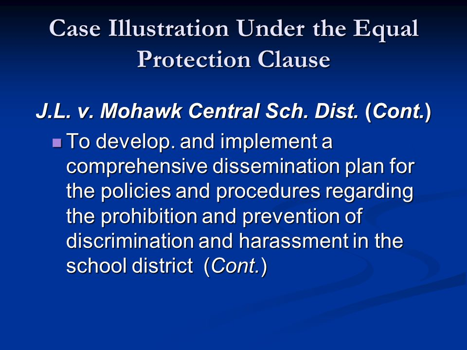Case Illustration Under the Equal Protection Clause J.L.