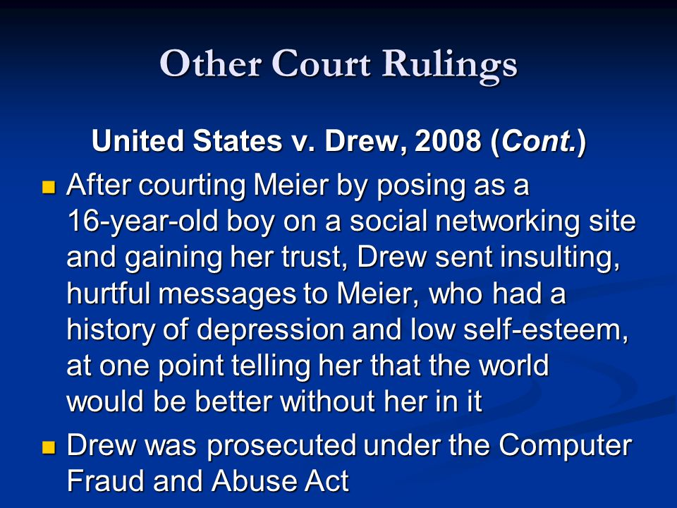 Other Court Rulings United States v.