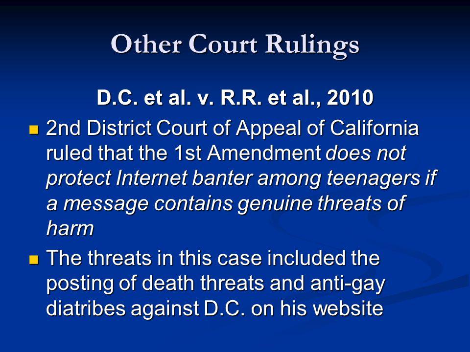 Other Court Rulings D.C. et al. v. R.R.