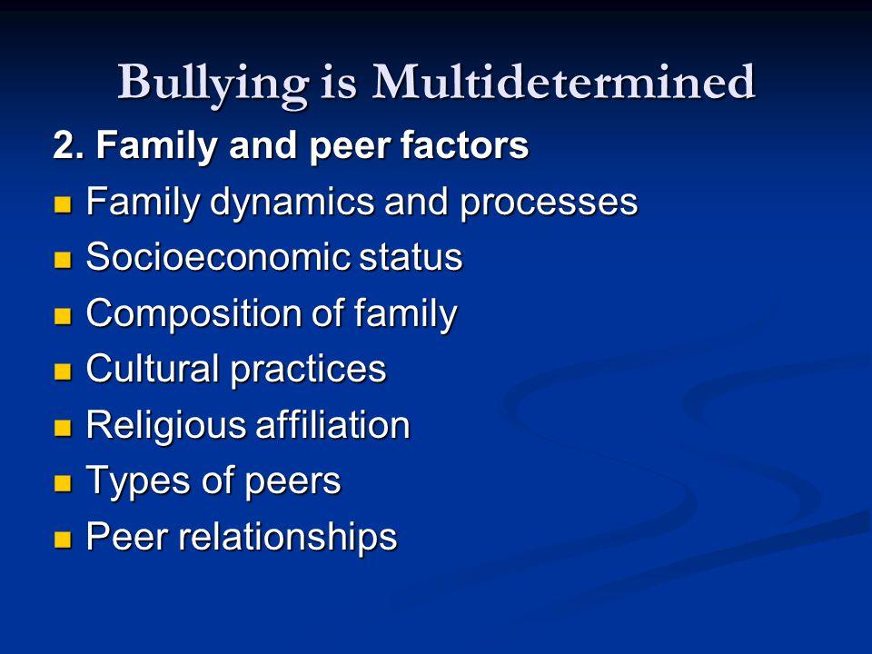 Bullying is Multidetermined 2.