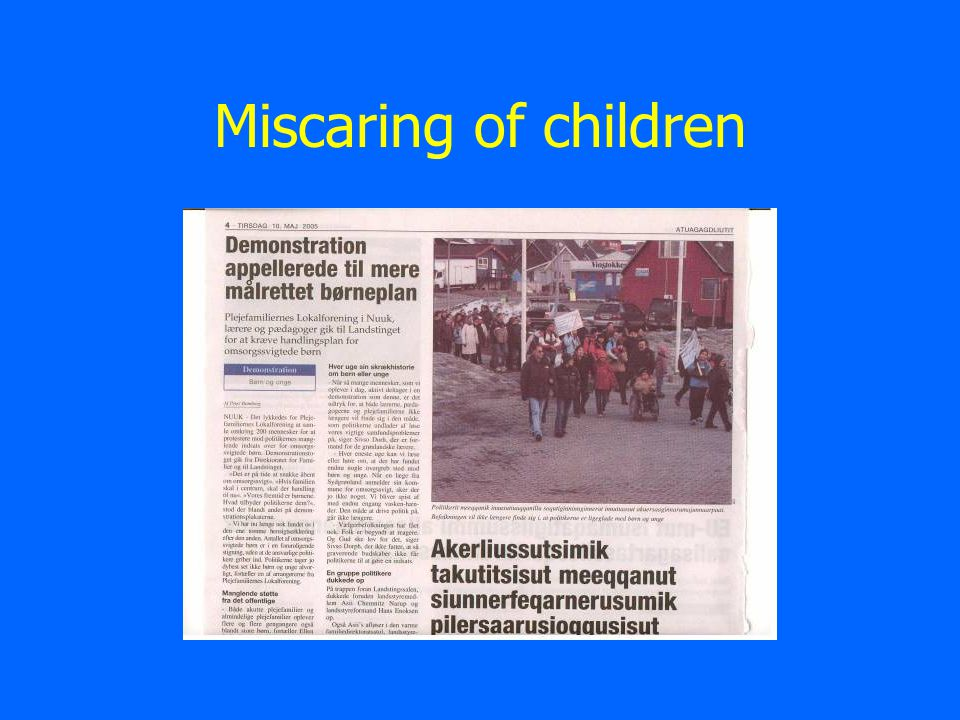 Miscaring of children