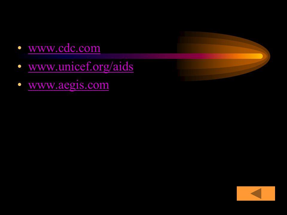 www.cdc.com www.unicef.org/aids www.aegis.com