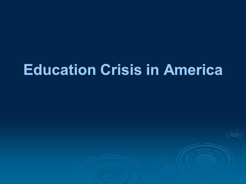 Education Crisis in America