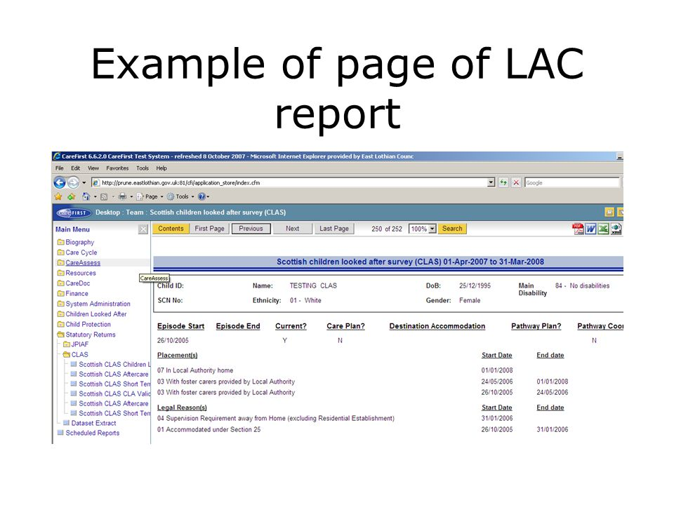 Ability to search on individuals or certain criteria within report (e.g.