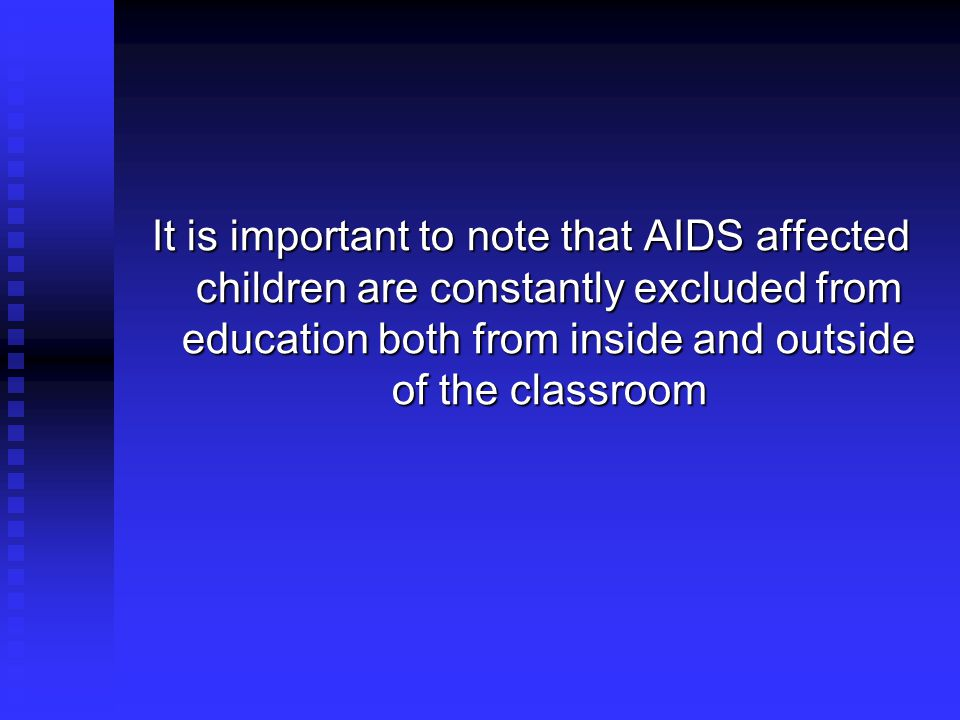 AIDS Affected Children Access to Education