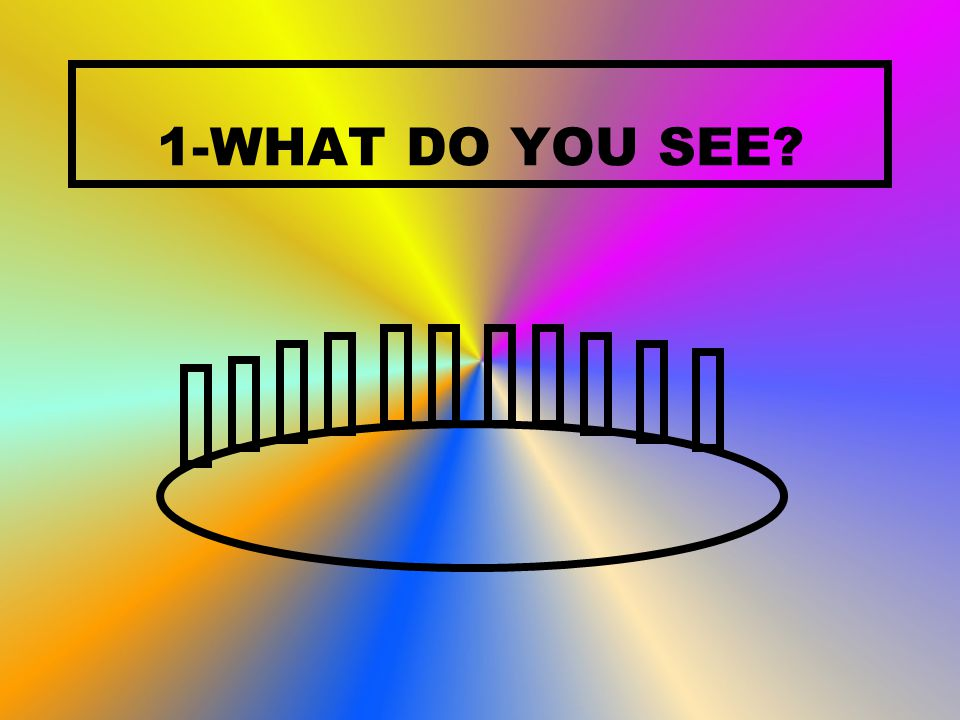 1-WHAT DO YOU SEE?