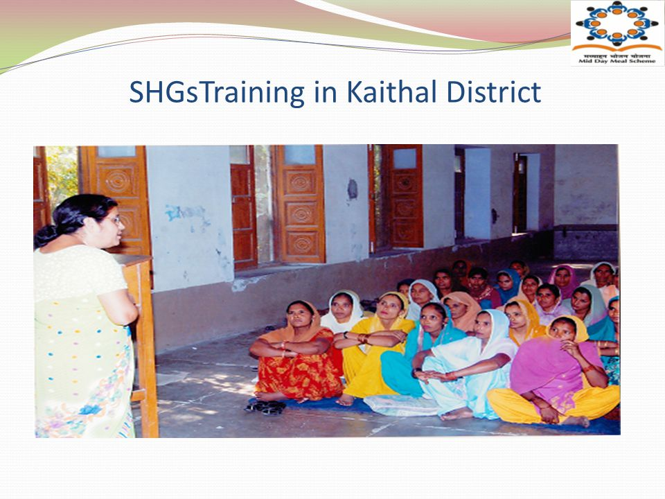 SHGsTraining in Kaithal District