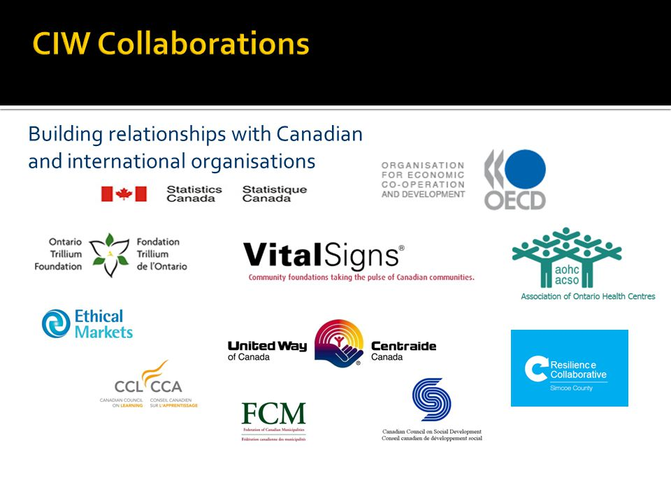 Building relationships with Canadian and international organisations