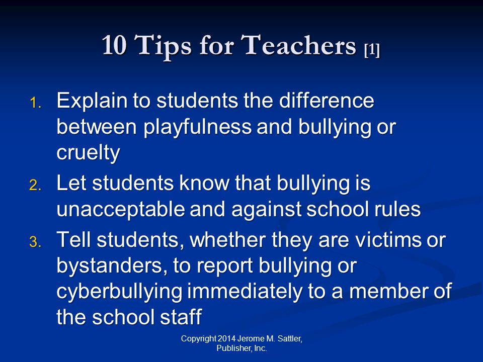 10 Tips for Teachers [2] 4.