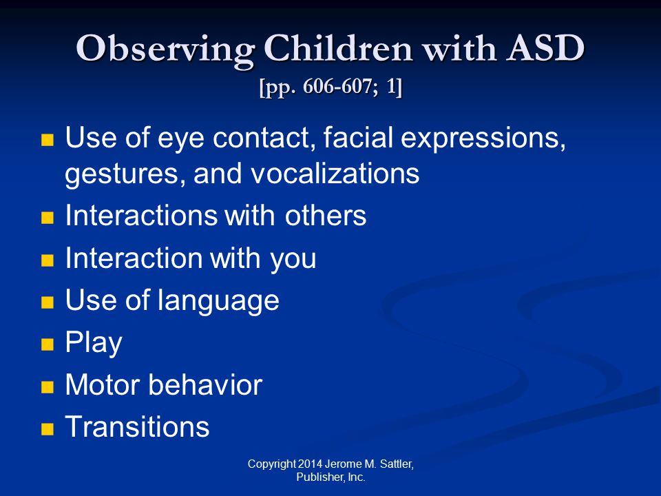 Observing Children with ASD [pp.