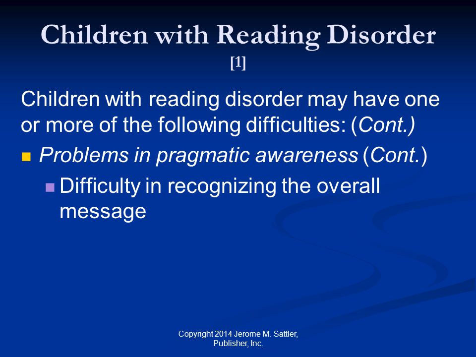 Nonverbal Learning Disability [1] Definition: A subtype of learning disability associated with a dysfunction in the right cerebral hemisphere Copyright 2014 Jerome M.
