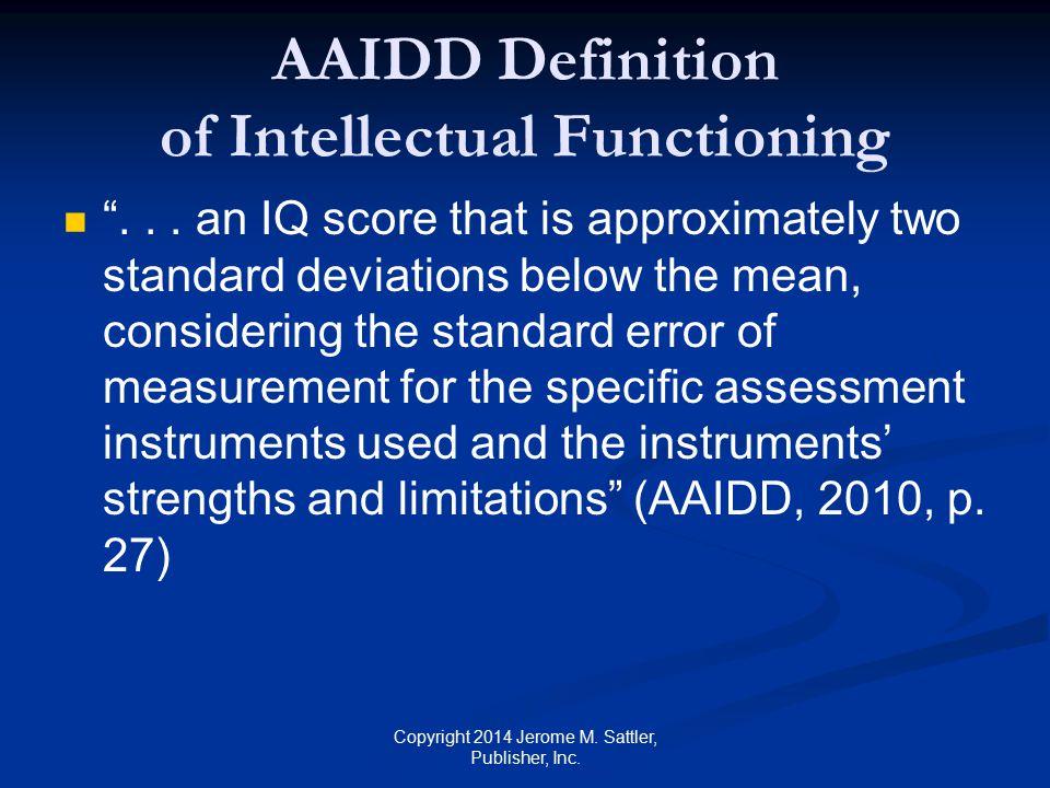 AAIDD Definition of Adaptive Behavior ...