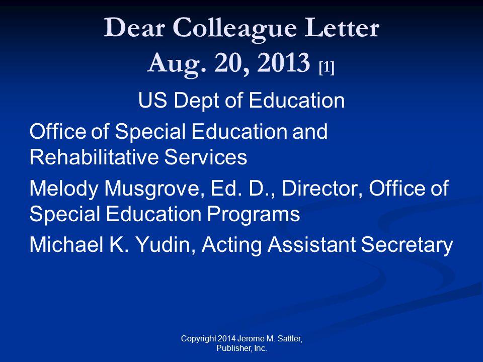 Dear Colleague Letter Aug.