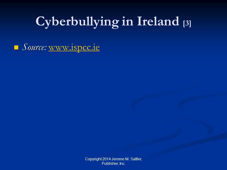 Cyberbullying in Ireland [4] An Irish government report recommended that cyberbullying be made a criminal offence after several teenage suicides apparently linked to the problem Report will also propose new laws to compel all schools to introduce disciplinary codes to tackle the misuse of social media Copyright 2014 Jerome M.