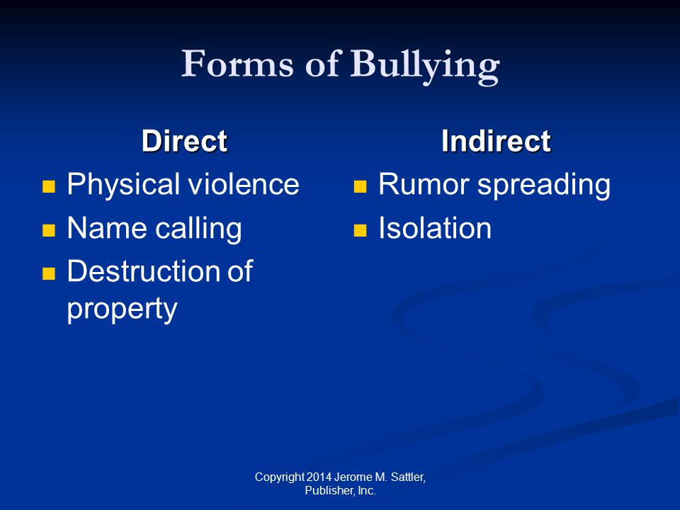 Factors That May Lead to Bullying See Table N-2 on p.