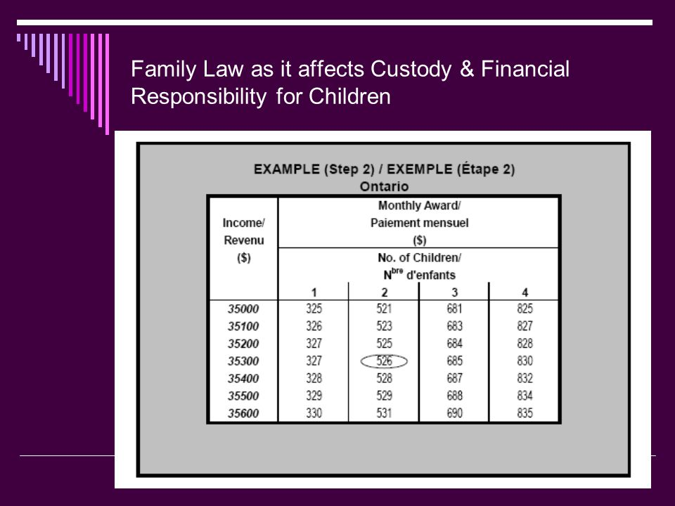  How is Child Support Calculated (cont.).