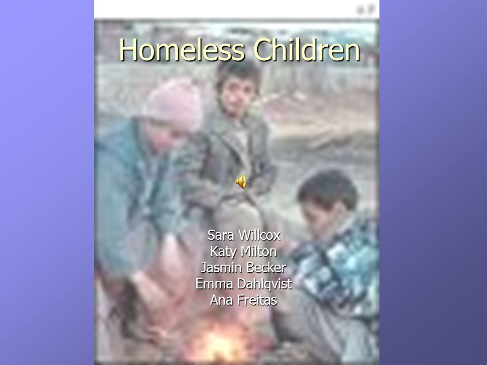 Social answers in Portugal Homeless children Social services are informed Family No family Family No family Know and analyse go to care home Stay with family go to care home Stay with family go to care home