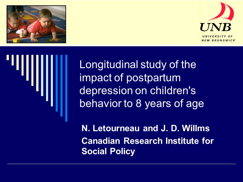 Longitudinal study of the impact of postpartum depression on children s behavior to 8 years of age N.