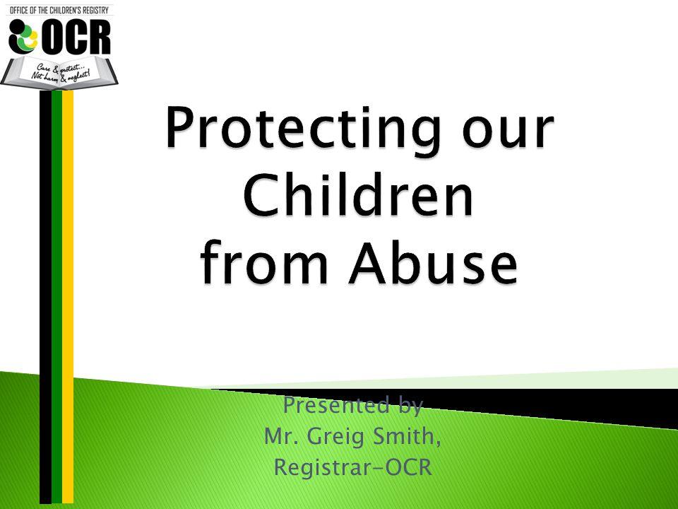 Presented by Mr. Greig Smith, Registrar-OCR