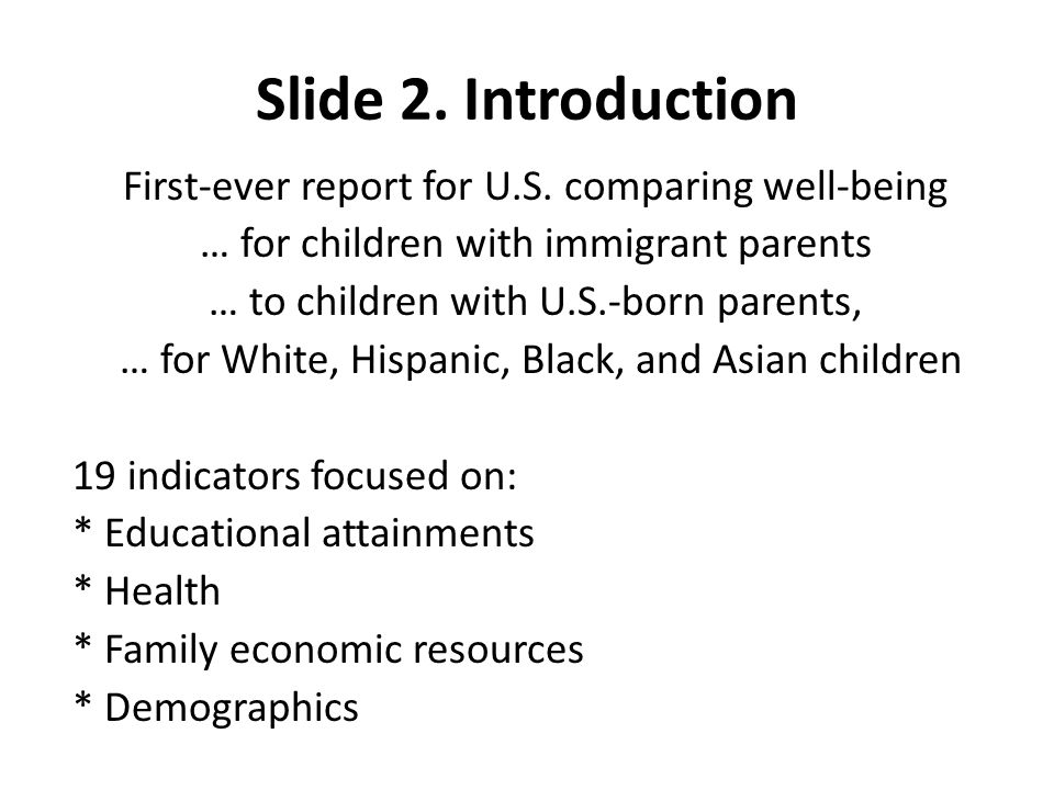 Slide 2. Introduction First-ever report for U.S.