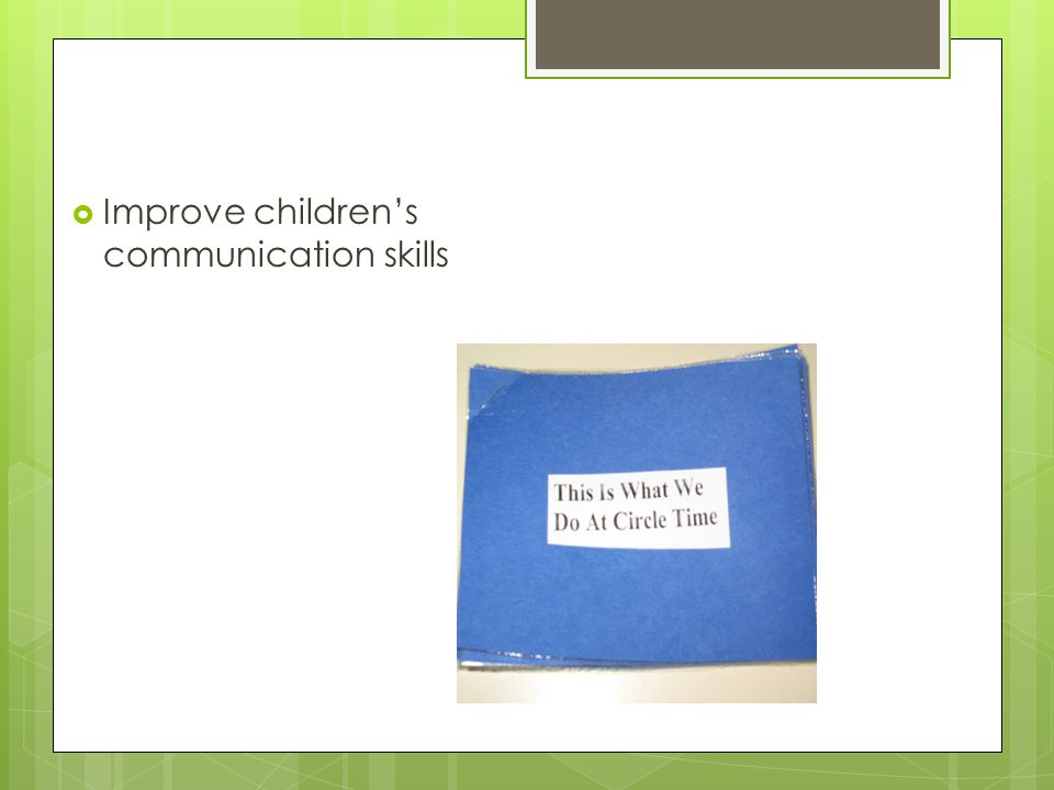  Improve children's communication skills